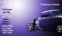 Purple Hot Rod Business Card Template